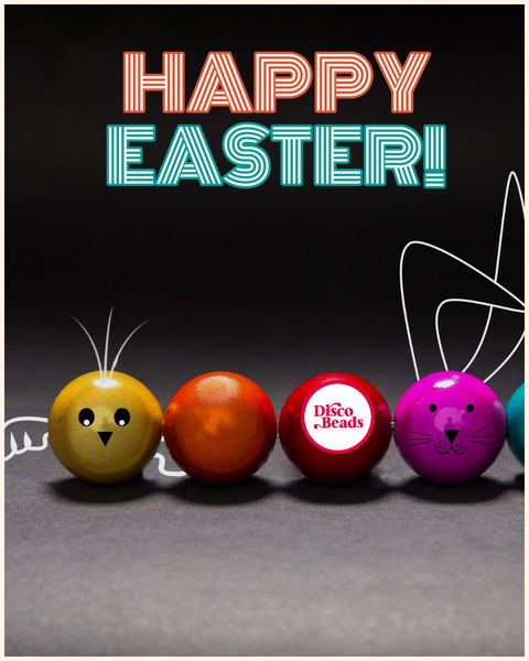 happy Easter Disco Beads