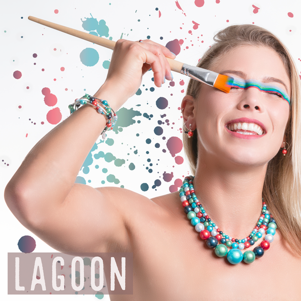 Lagoon Bisco beads