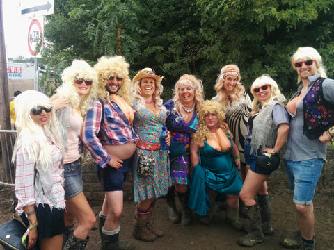 Dolly Partons at Glastonbury Festival with the legendary Diddy Dolly!