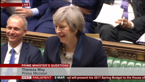 Theresa May jewellery wearing Disco Beads