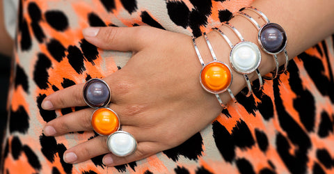Disco Beads Bubble Bangle and Ring