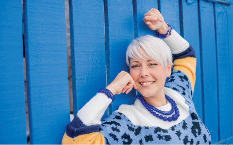 Indigo and Disco beads jumper