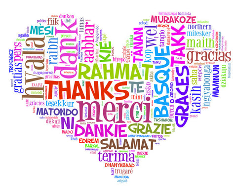 SAY THANKS - In Lots of Different Languages