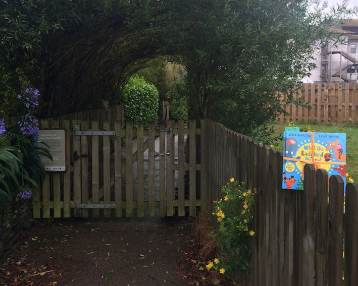 Book Fairy heads to Trelisk sensory garden