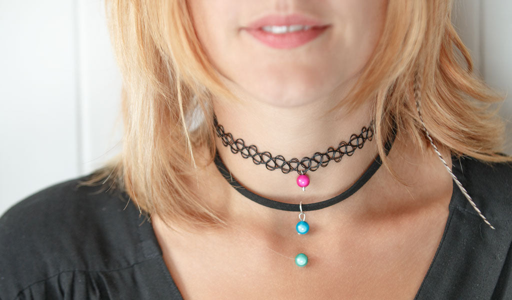Invisible Choker -- Gives the illusion of a floating bead