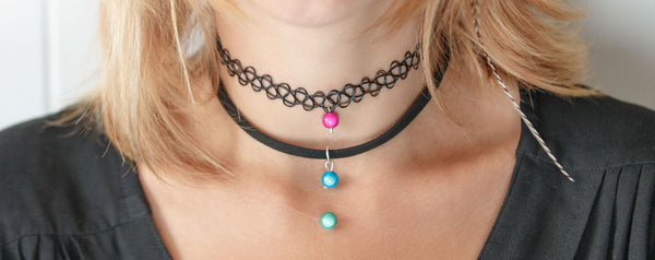 Chokers by Disco Beads - Funky tattoo choker, fabric choker and invisible choker