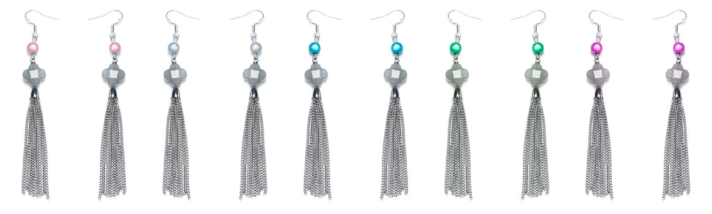 Tassel Earrings - Sterling Silver Earrings