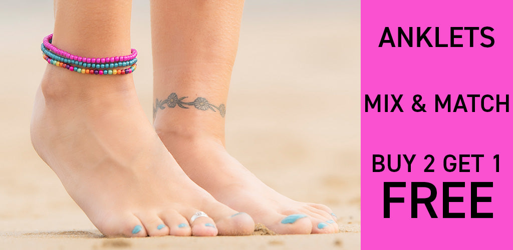 Buy 2 Get 1 FREE - mix and match anklets