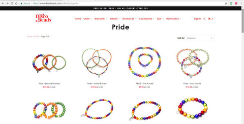 Disco Beads Pride Collection