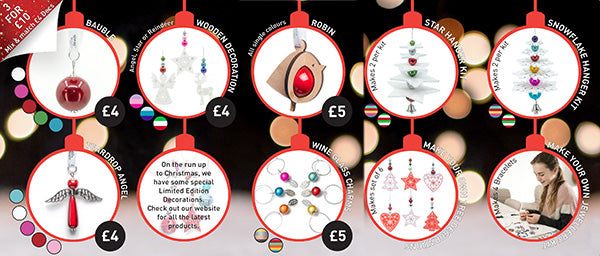 Christmas Decorations - Perfect decorations for your Disco Beads Christmas!