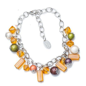 Charm Bracelet - Metallic- Disco Beads