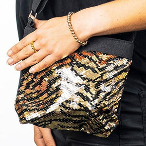 Sequin Bag and Bracelet - special- Disco Beads