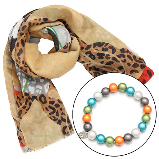 Safari Scarf with FREE BRACELET