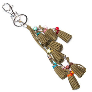 Tassle  Keyring Charms - Accessories- Disco Beads