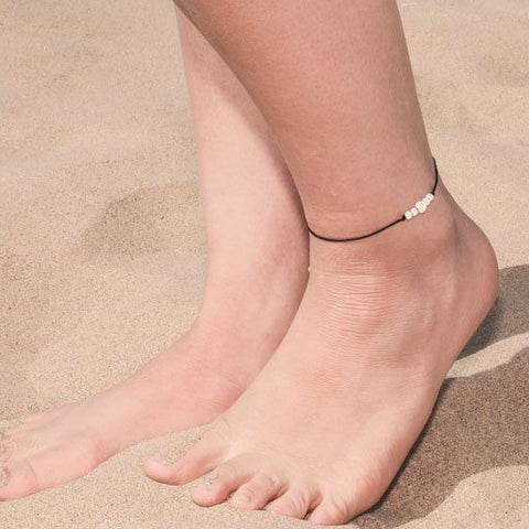 c newchic silver anklets anklet flower leather gold womens anchor dded beads popular round tassel