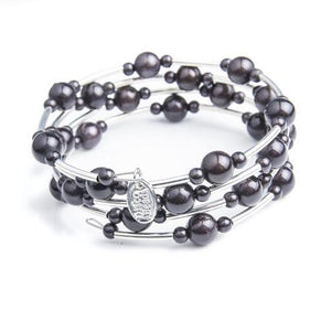 Twisted Silver Bracelet - Bracelet- Disco Beads
