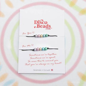 You and Me Bracelets - Bracelet- Disco Beads