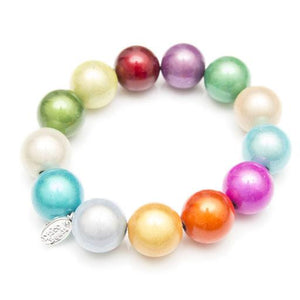 Chunky Multi Bracelet Fairy Seconds - - Disco Beads