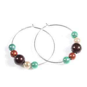 Hoop Earrings - SPECIAL- Disco Beads