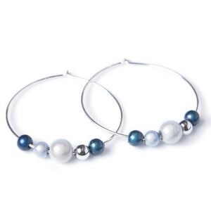 Hoop Earrings - 30mm - Earrings- Disco Beads