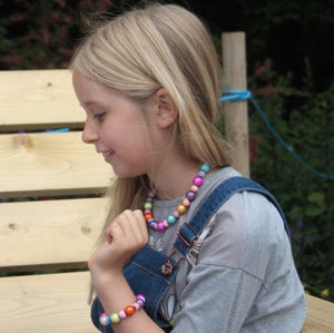 Kids Sweetie Necklace - Kids- Disco Beads