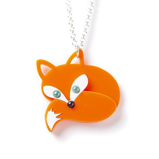Fox - NECKLACE- Disco Beads