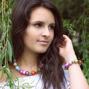 Sweetie Necklace - Necklace- Disco Beads