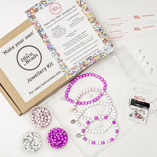 Pinks 'Make Your Own' Kit - Accessories- Disco Beads