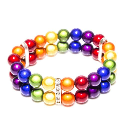 Pride - Double Bracelet - Pride- Disco Beads