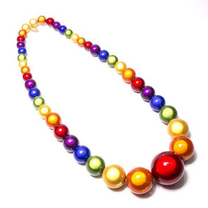 Pride - Mini Graduated Necklace - Pride- Disco Beads