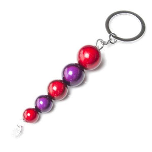 Red Hatters - Purple and Red - SPECIAL- Disco Beads