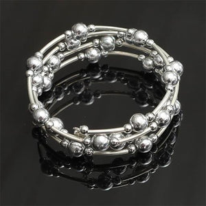 Twisted Silver Bracelet - SALE - Special- Disco Beads