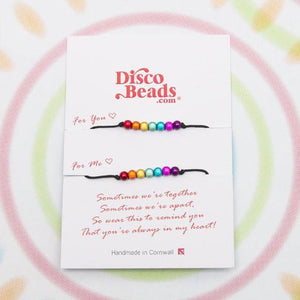 You and Me Bracelets - SALE - Special- Disco Beads