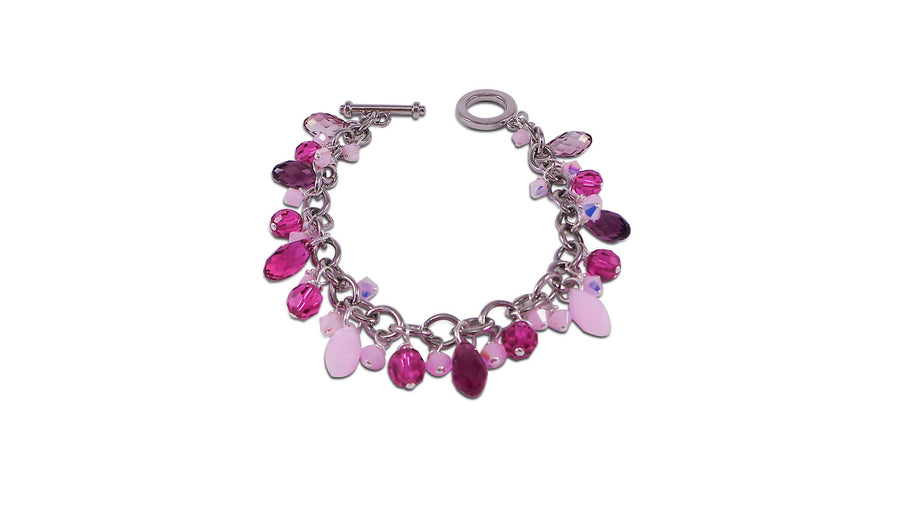 Cherry Blossom Crystal Bracelet cherry blossom crystal drop