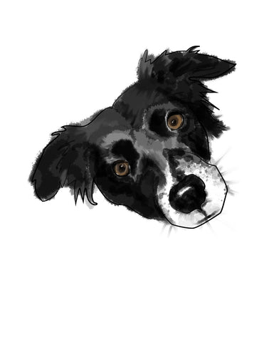 custom dog mockup portrait