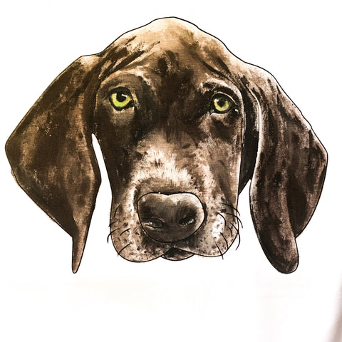 brown dog painted portrait