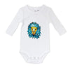 geometric lion hand painted bodysuit
