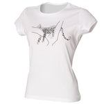Leopard women t-shirt, white