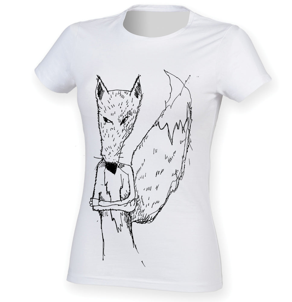 Annoyed fox women t-shirt