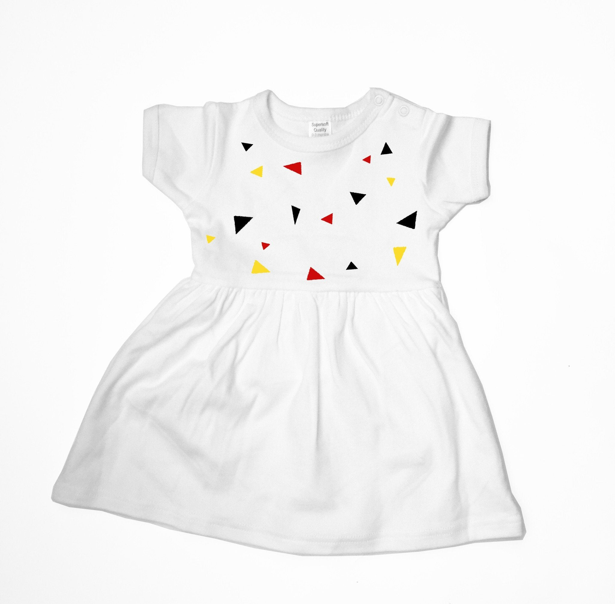 Baby Dress - Colourful Triangles Baby Dress