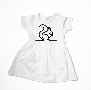 Baby Dress - Squirrel Baby Dress