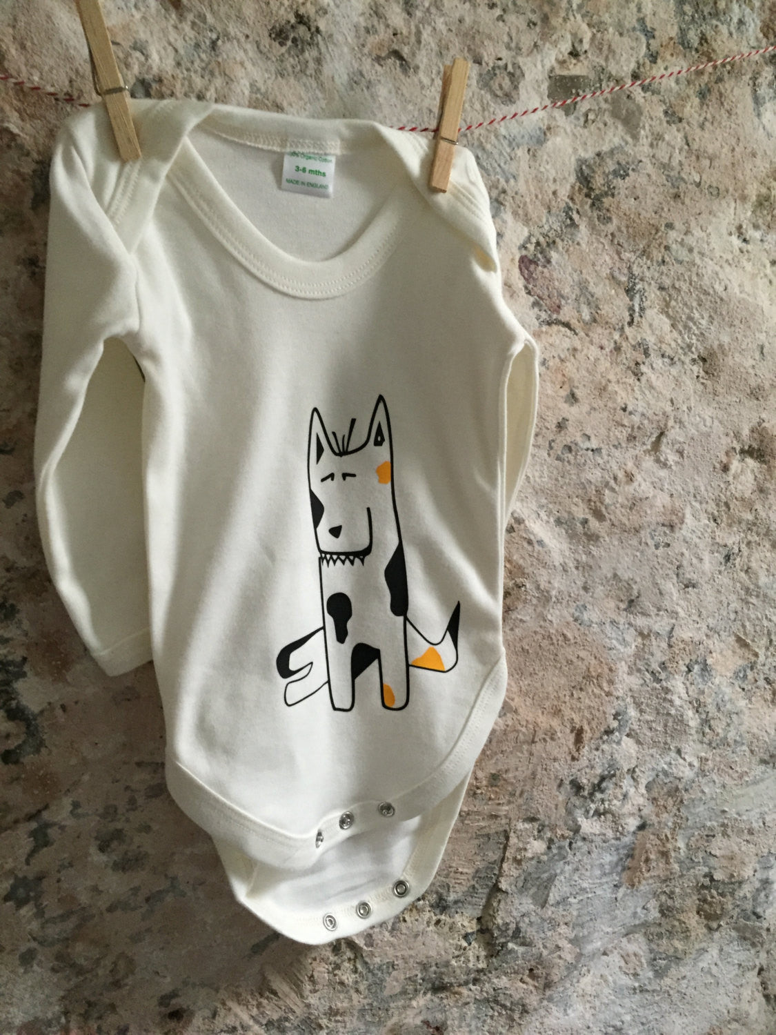 Dog baby onesie - ARTsy clothing - 2