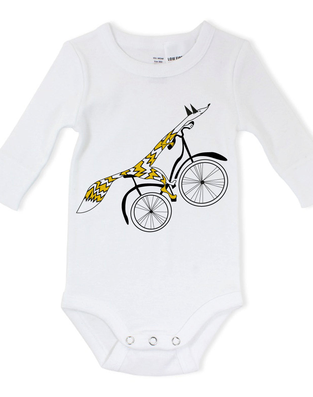 Fox bike baby bodysuit for bike lover - ARTsy clothing - 1