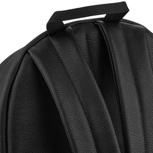 Backpack - Black Faux Leather Backpack 18L