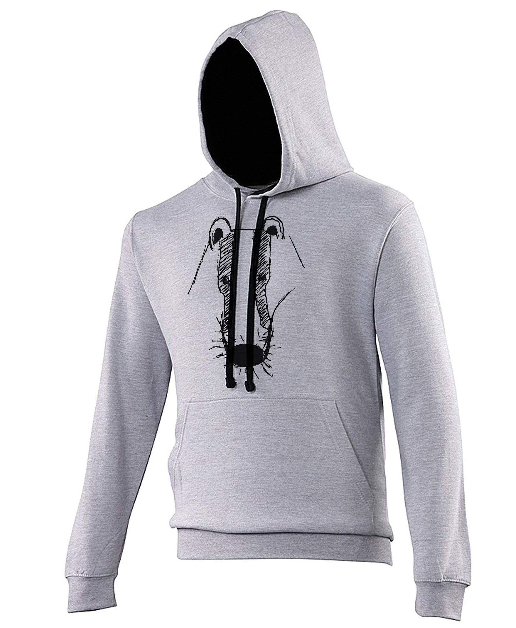 Badger hoodie, Grey/Black