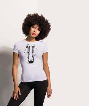 women badger t-shirt white