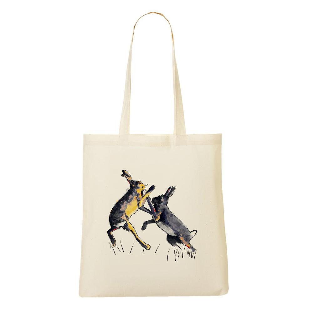 Bags - Boxing Hares Tote Bag