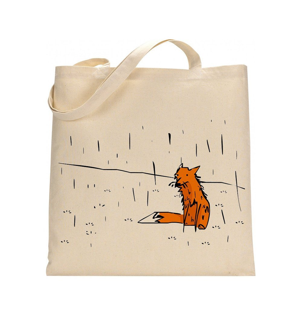 Bags - Fox In A Rain Tote Bag