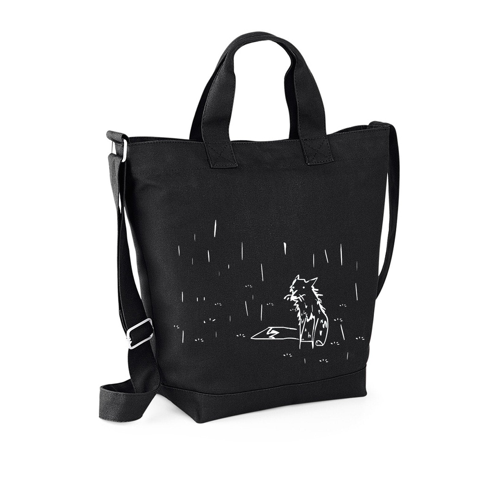 Bags - Fox In The Rain Canvas Bag, Black