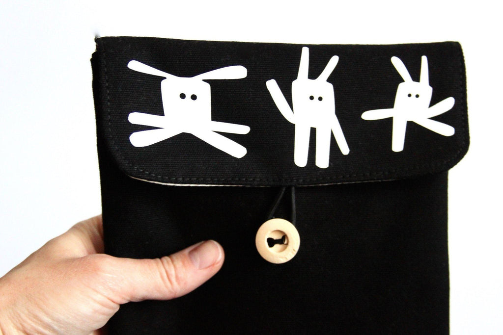 Bags - Funny Bunny Tablet Case, Black